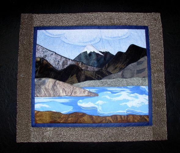 Пейзаж на ткани своими руками 791
